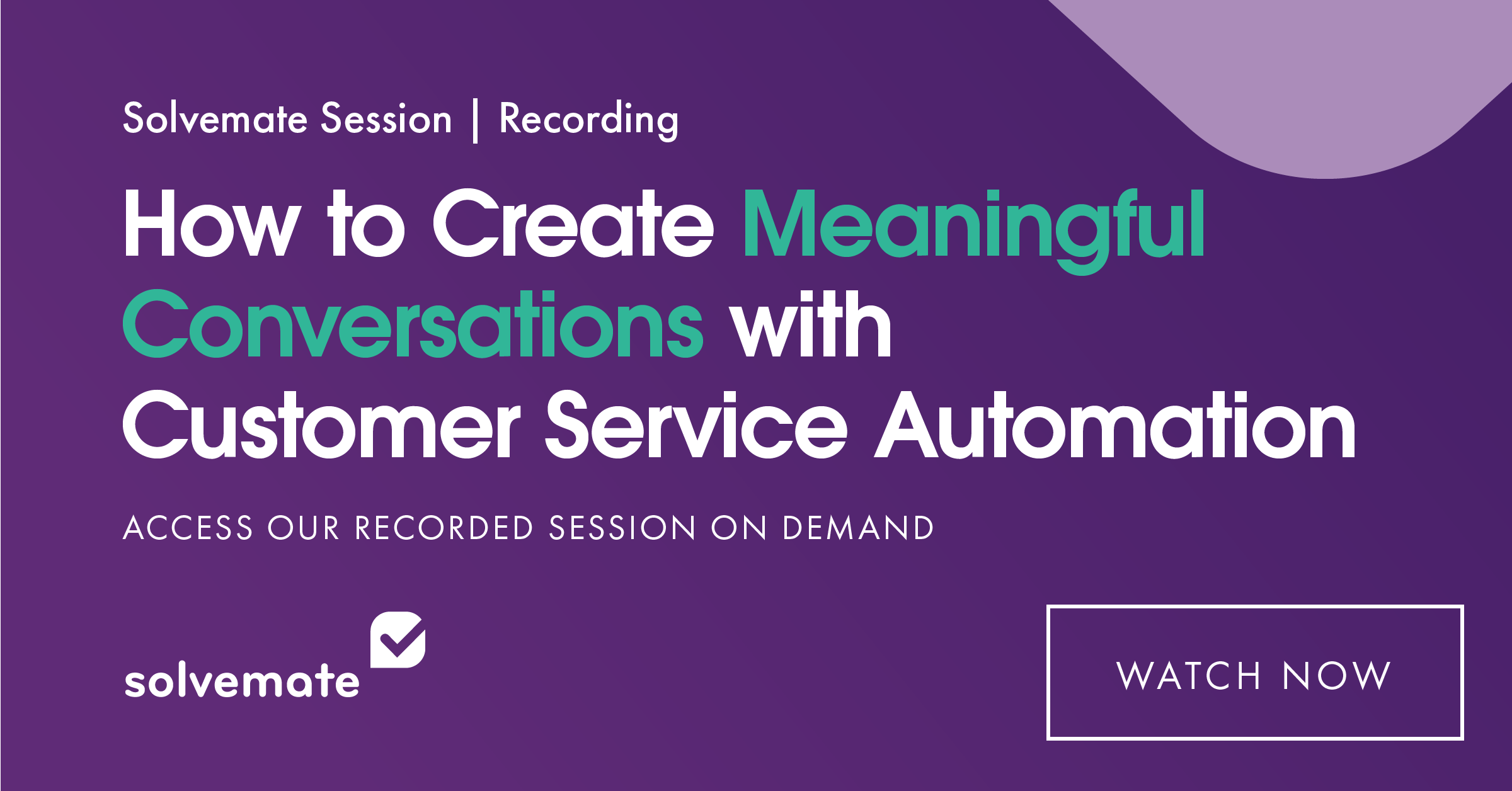 Webinar about customer service automation with travel chatbot